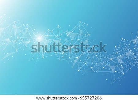 Stock Photo Abstract Polygonal Space Background with Connecting Dots and Lines. Vector illustration