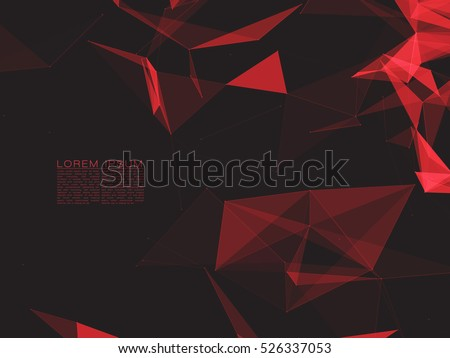 abstract polygonal space dark