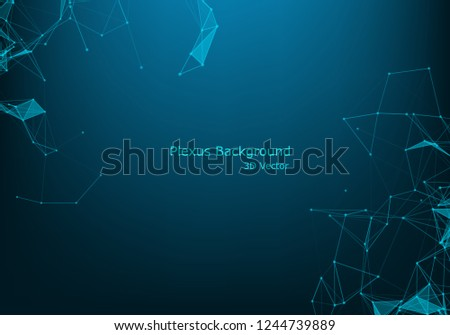 Abstract polygonal space low poly dark background with connecting dots and lines. Connection structure. Futuristic polygonal background. Triangular business wallpaper.