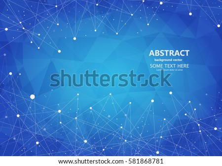 abstract polygonal space  with