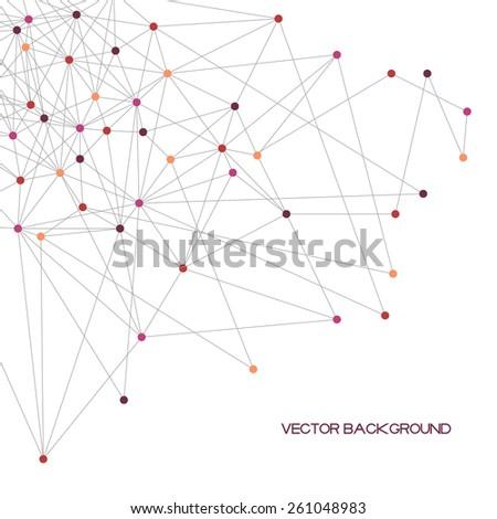 abstract polygonal vector
