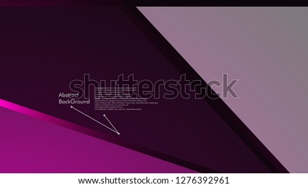 Abstract polygonal vector background.  geometric vector illustration. Creative design template #1276392961