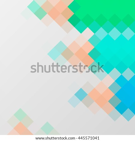 Abstract polygonal vector background. Illustration consisted of hexagon and rectangle elements. Multi-color geometric low poly style. Creative template design for your artwork.