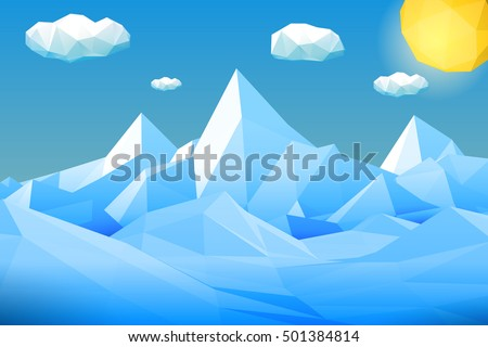 abstract polygonal winter