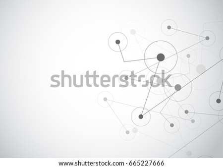 Abstract polygonal with connecting dots and lines background. Connection science. Vector illustration