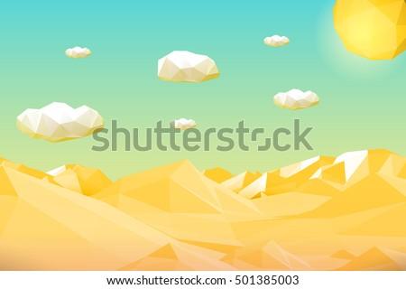 abstract polygonal yellow