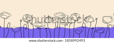 abstract poppy flower seamless