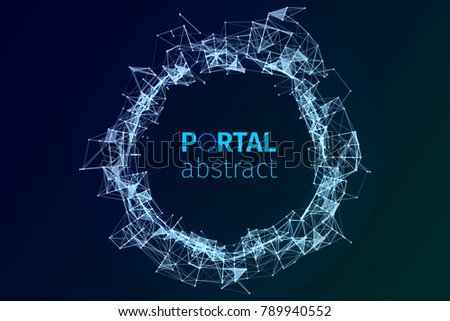 abstract portal illustration