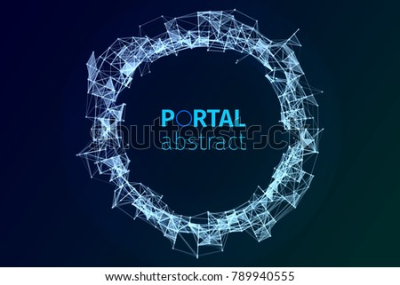 abstract portal illustration