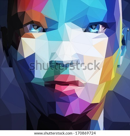 abstract portrait of asian woman