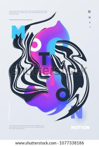 abstract poster liquid design