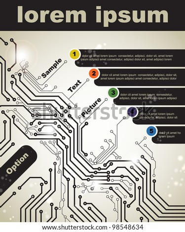 Abstract poster of modern digital technologies - stock vector