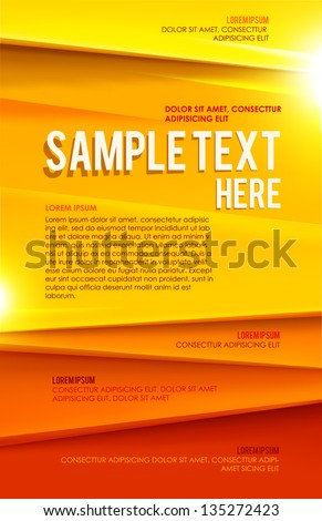 Abstract poster. Vector
