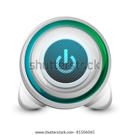 Abstract power button