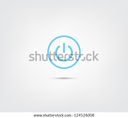 abstract power button icon