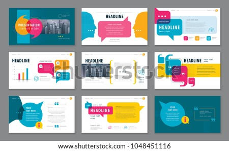 Abstract Presentation Templates, Infographic elements Template design set for Brochures, flyer, leaflet, magazine, invitation card, annual report, Questions and Answers, social networks, talk bubbles