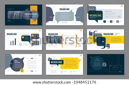 Abstract Presentation Templates, Infographic elements Template design set for Brochures, flyer, leaflet, Website design, Webpage, annual report, Questions and Answers, social networks, talk bubbles