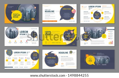 Abstract Presentation Templates, Infographic elements Template design set for Brochures, flyer, leaflet, magazine, invitation card, annual report, Website design, Webpage, social networks, talk bubble