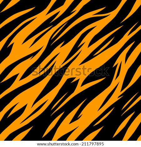 Abstract print animal seamless pattern. Zebra, tiger stripes. Striped repeating background texture. Fabric design. Wallpaper - vector