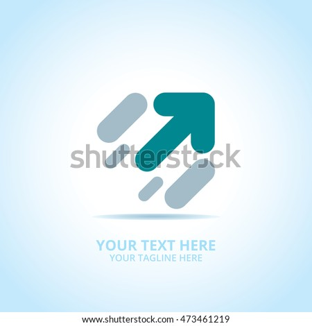 Abstract Progress Arrow logo, design concept, emblem, icon, flat logotype element for template.