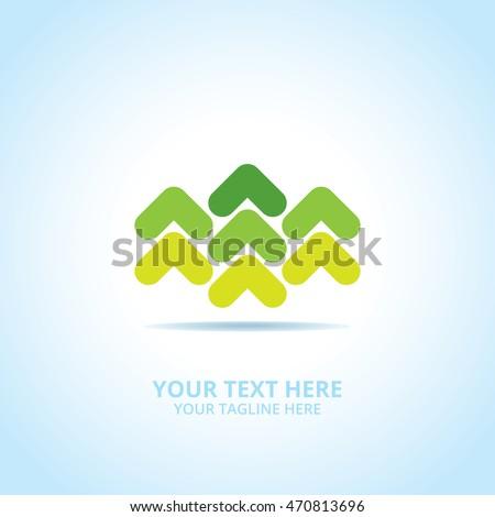 Abstract Progress logo, design concept, emblem, logotype element for template.