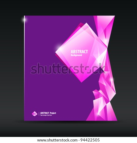 Abstract purple and pink diamond background brochure design, vector illustration