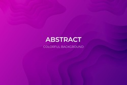 Abstract purple geometric background. Wavy geometric background. Trendy gradient shapes composition Paper cut style design. - Vector