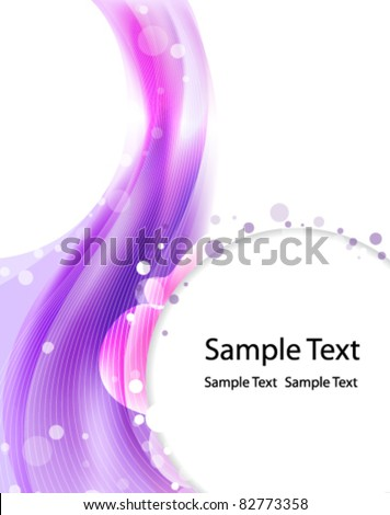 Abstract purple imagination background - stock vector