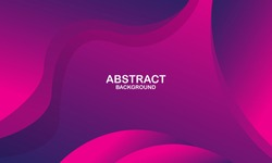 Abstract purple liquid wave background. Fluid composition of shapes. Vector illustration