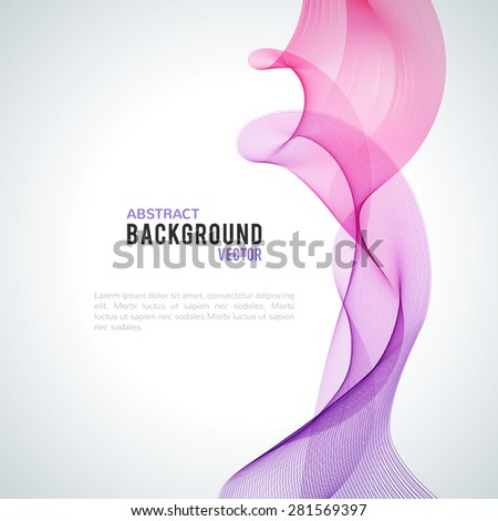 abstract purple wave isolated