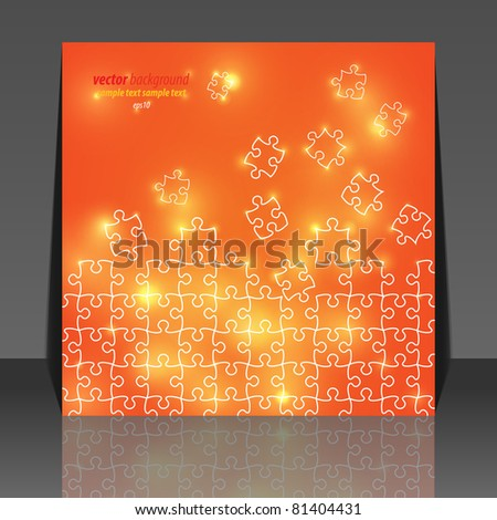 Abstract puzzle background flyer design