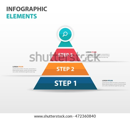 abstract pyramid arrow business