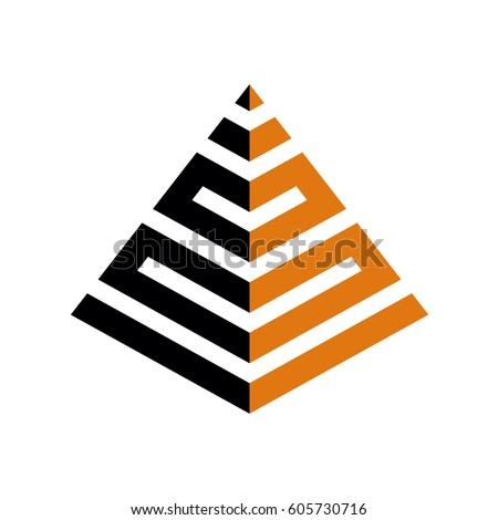 abstract pyramid logo template