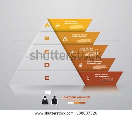 abstract pyramid shape layout