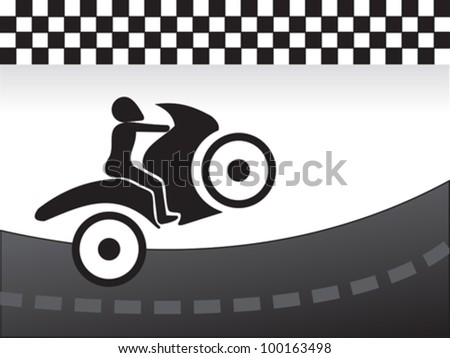 abstract race concept vector illustration