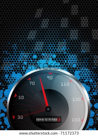 Abstract racing background with tachometer