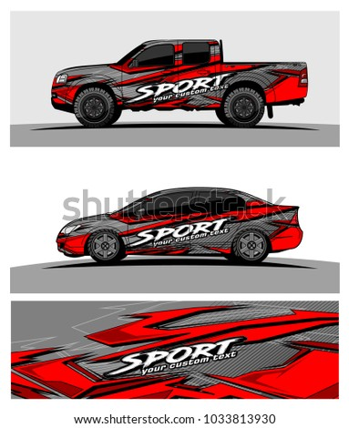 abstract racing graphic kit