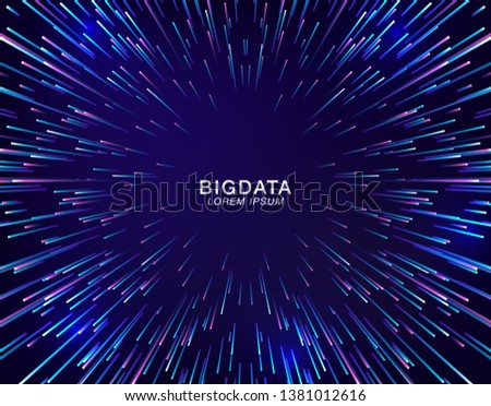 Abstract radial lines geometric background