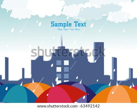 abstract rain falling