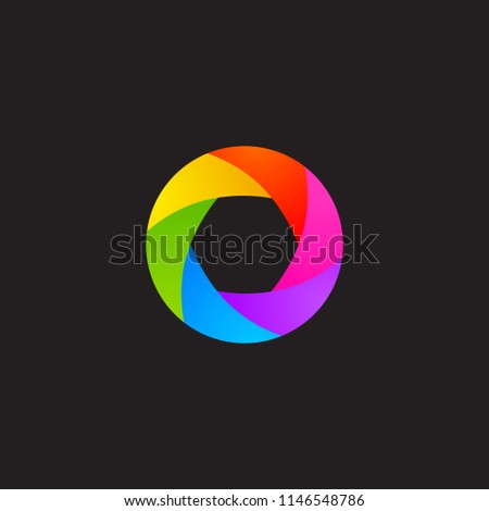 Abstract Rainbow Aperture