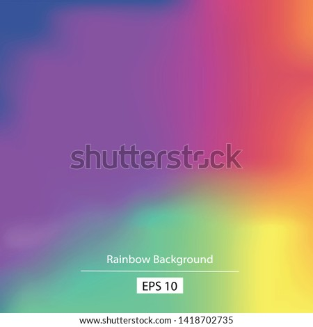 Abstract rainbow background. Blurred colorful rainbow background. Gradient mesh rainbow background . Gradient rainbow colors. Vector illustration - Vector