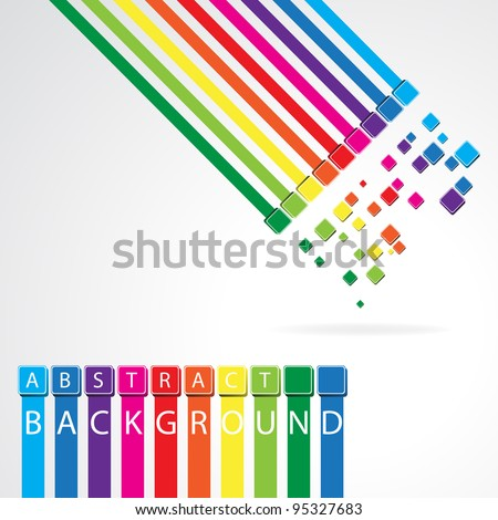 Abstract rainbow background. Clip-art