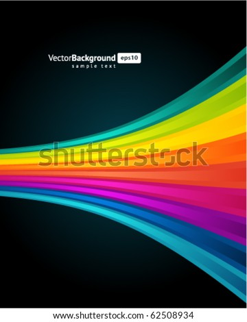 Abstract rainbow background. Eps 10