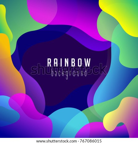 Abstract rainbow background. Vector abstract multicolor backdrop. Template design