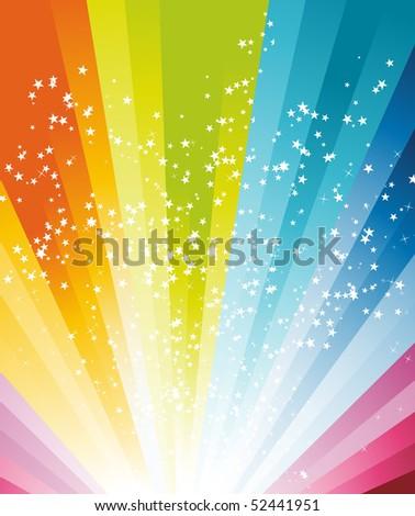 Abstract rainbow birthday banner. Vector illustration