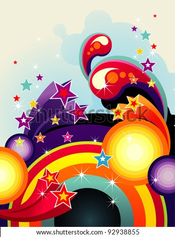 abstract rainbow color vector