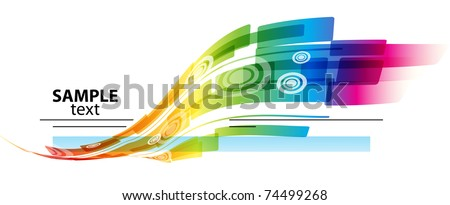Abstract rainbow colored background with place for text