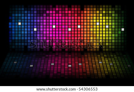 Abstract rainbow - colored vector background. EPS10