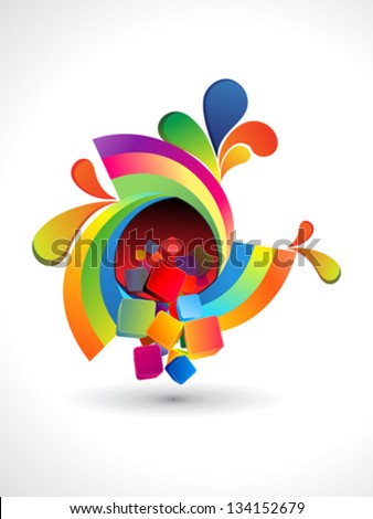abstract rainbow rounded circle