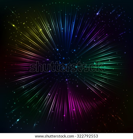 abstract rainbow shining vector